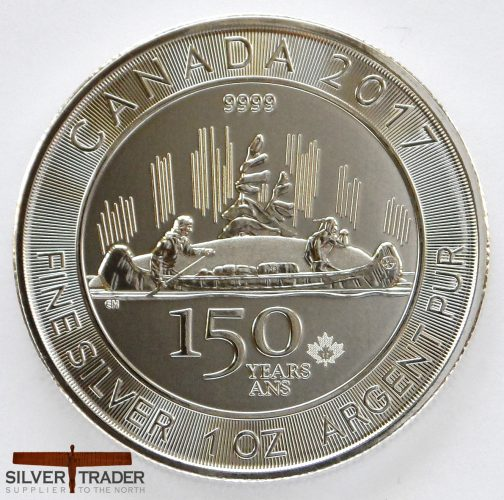 2017 Canadian Voyageur 1 oz 150 year Federation Silver Bullion Coin