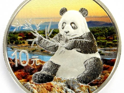 2017 Chinese Panda 30 gram Coloured Silver Bullion Coin