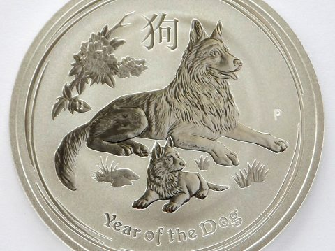 2018 Australian 1 oz year of the Dog Silver Bullion Coin