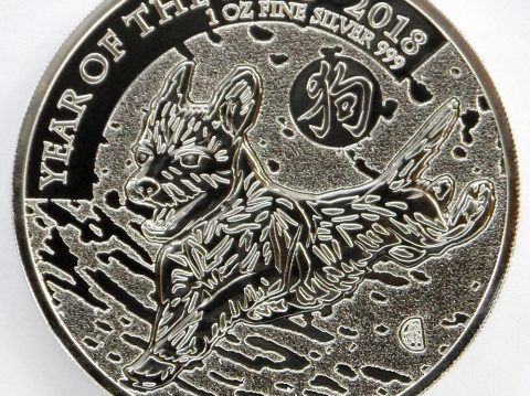 2018 Lunar Dog 1 oz UK Silver Bullion Coin