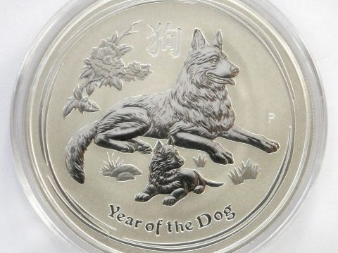 2018 Australian year of the Dog 1/2 ounce Silver Bullion Coin