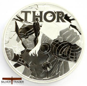 2018 Thor Marvel Series 1 oz Tuvalu Silver Bullion Coin