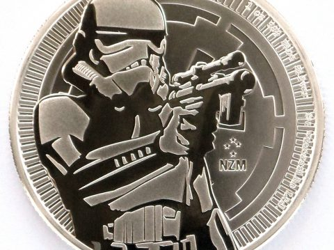 2018 Stormtrooper Star Wars 1 oz Silver Bullion Coin