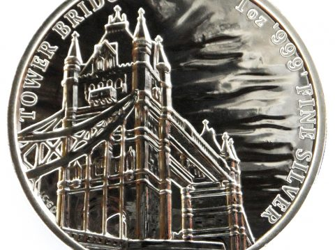 2018 Tower Bridge 1 oz Landmarks of Britain Silver Bullion Coin
