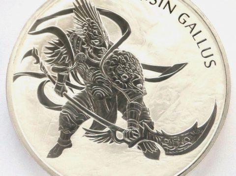 The 2017 South Korea Zi Sin Gallus 1 ounce Silver Bullion Medal