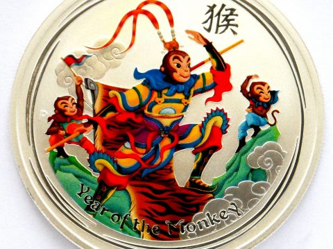 2016 Australian Monkey King 1 oz Coloured Silver Bullion Coin