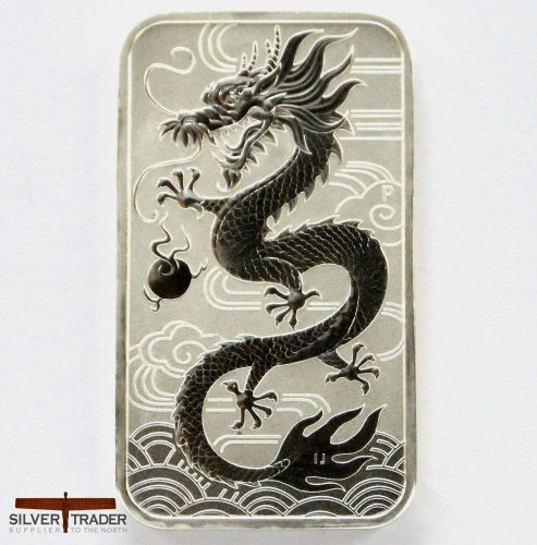 2018 Australian Dragon 1 oz Rectangular Silver Bullion Coin