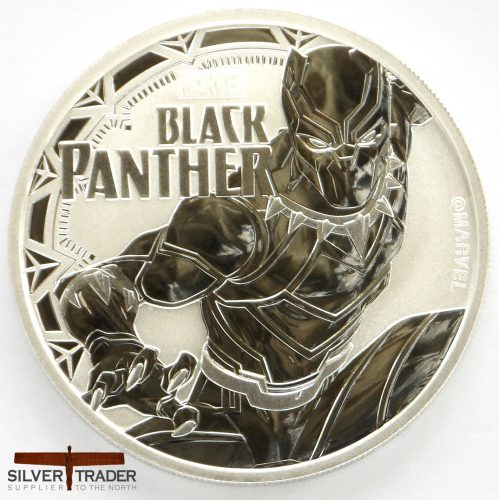 2018 Black Panther Marvel Series 1 oz Tuvalu Silver Bullion Coin