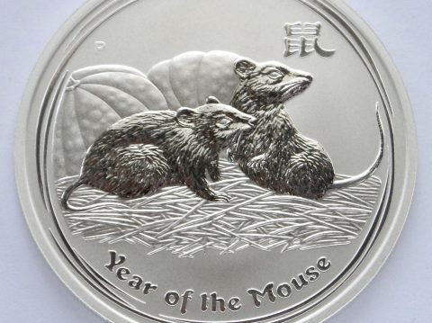 2008 Australian year of the Mouse 1 oz 999 Silver Bullion Coin