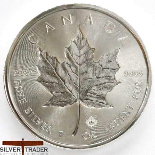 2018 Canadian Incuse Maple Leaf 1oz Silver Bullion Coin