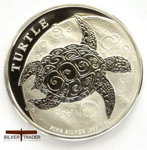 2018 Hawksbill Turtle 1 oz New Zealand Silver Bullion Coin