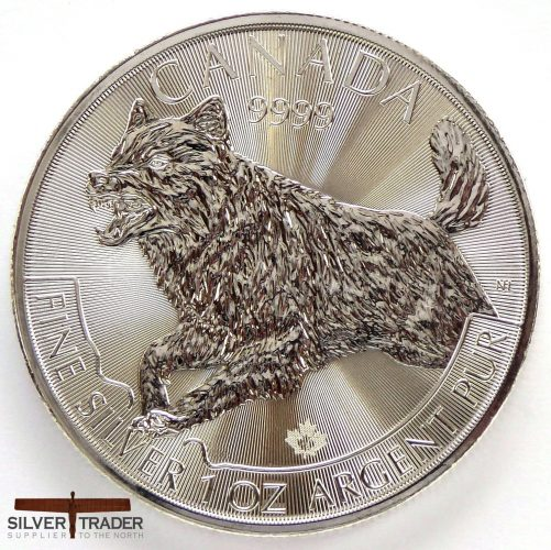 2018 Canadian Wolf 1 oz Silver Bullion Coin