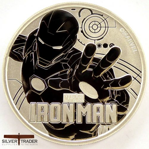 2018 Iron Man Marvel Series 1 oz Silver Bullion Coin