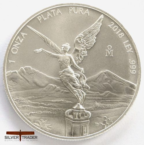 2018 Mexican Libertad 1 oz 999 Silver Bullion Coin