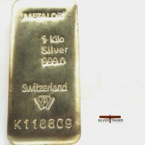 Second Grade 1 Kilogram Silver Bullion Bars with slight scratches or dents