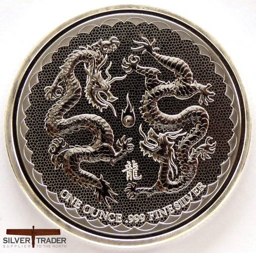 The 2018 Double Dragon 1 oz Niue Silver Bullion Coin