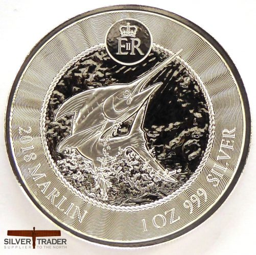 2018 Cayman Islands Marlin 1 oz Silver Bullion Coin