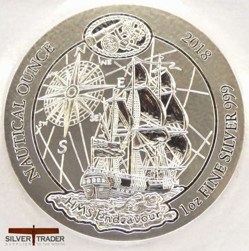 2018 Rwanda Nautical Series 1 oz Endeavour Silver Bullion Coin