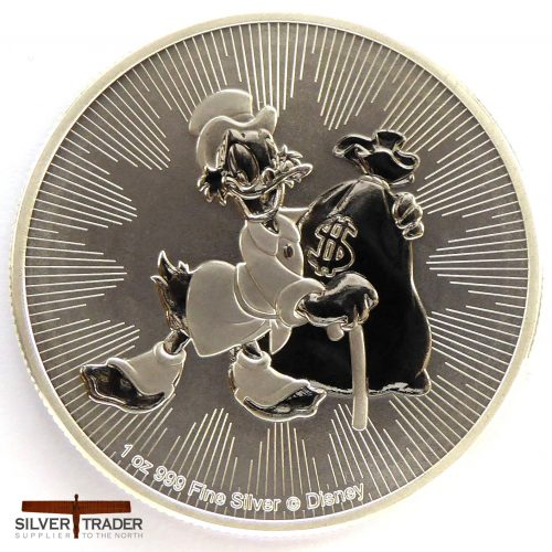 2018 Scrooge McDuck 1 oz New Zealand Silver Bullion Coin