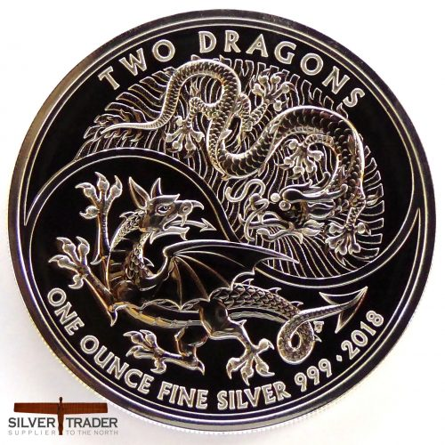 The 2018 Two Dragons British 1 oz Silver Bullion Coin