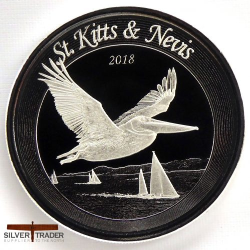 2018 St Kitts & Nevis Pelican 1 oz Silver Bullion Coin