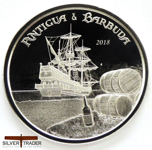 2018 Antigua & Barbuda Rum Runner 1 oz Silver Bullion Coin