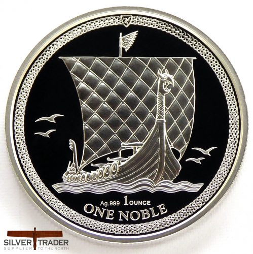 2018 Isle of Man Noble 1oz Silver Proof Bullion Coin