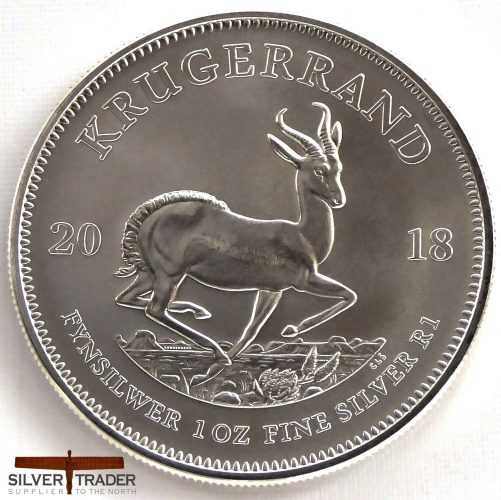 2018 South African Krugerrand 1 oz Silver Bullion Coin