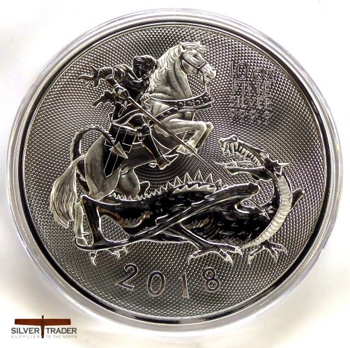 2018 Silver Valiant 10 oz Royal Mint Silver Bullion Coin