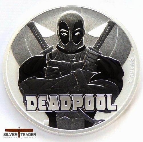 2018 Deadpool Marvel Series 1 oz Silver Bullion Coin
