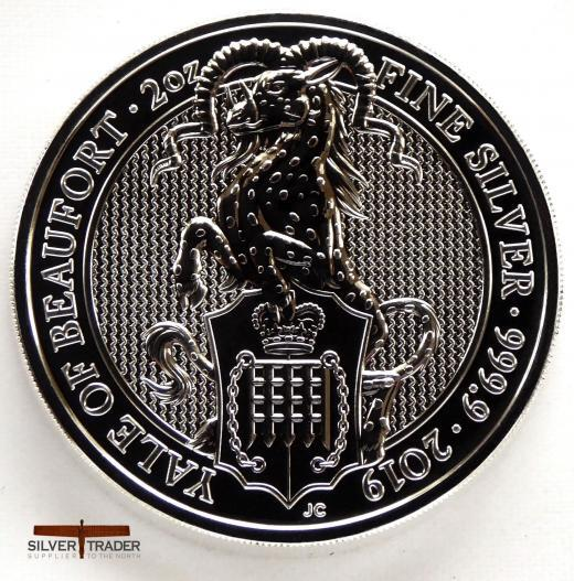 2019 Queens Beasts 2 oz The Yale Silver Bullion Coin
