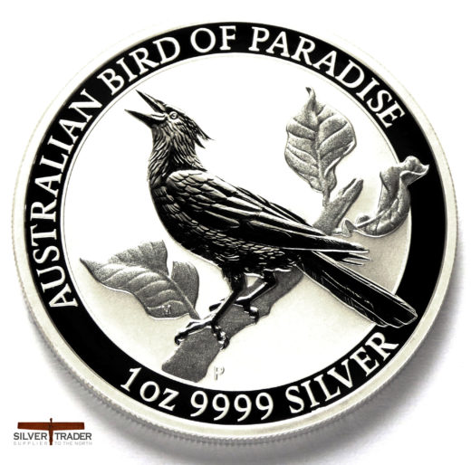 2019 Australian Bird of Paradise 1oz Manucodia Silver Bullion Coin