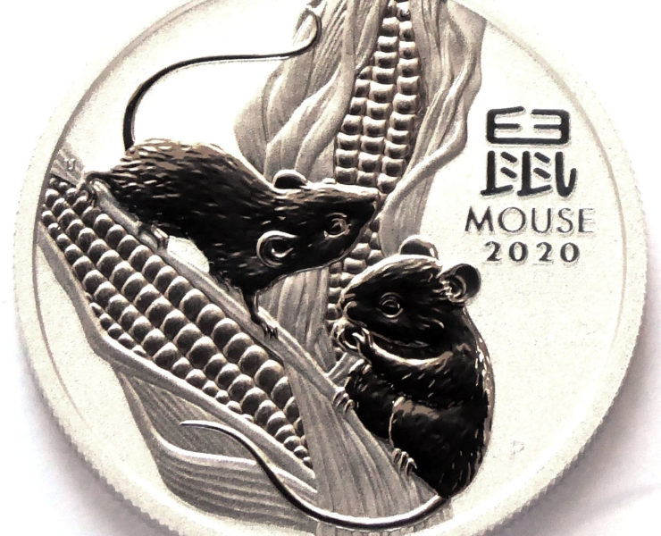 2020 Australian year of the Mouse 1/2 ounce Silver Bullion Coin
