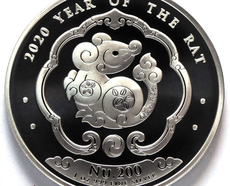 2020 Bhutan Lunar Rat 1 oz Silver Bullion Coin