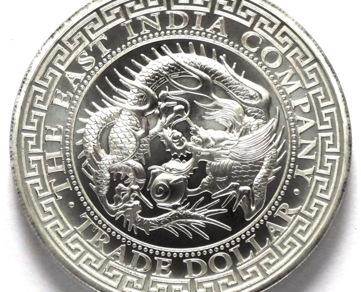 2020 St Helena Japanese Trade Dollar Restrike 1oz Silver Bullion Coin