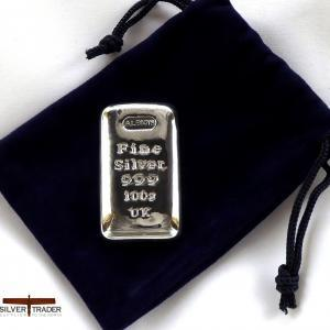 2021 Albion® 100 Gram Trademarked 999 Silver Bullion Bar