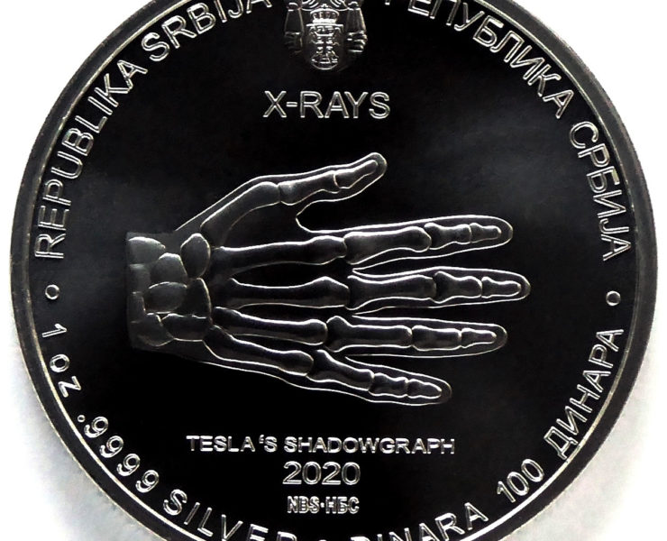2020 Nikola Tesla X Ray 1oz Silver Bullion Coin