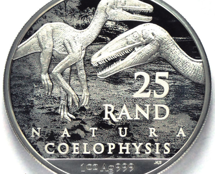 2020 South African Archosauria Dinosaurs Series 1oz Silver Bullion Coin