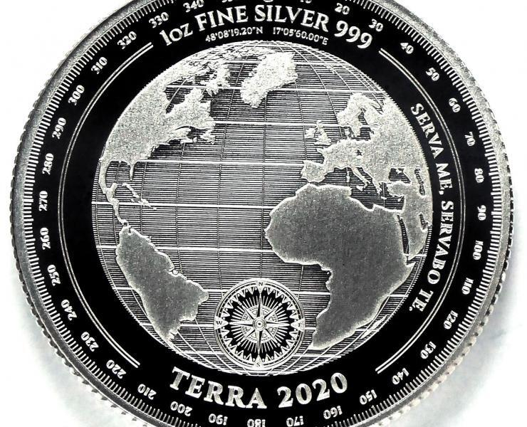 2020 Tokelau Planet Terra 1oz Silver Bullion Coin