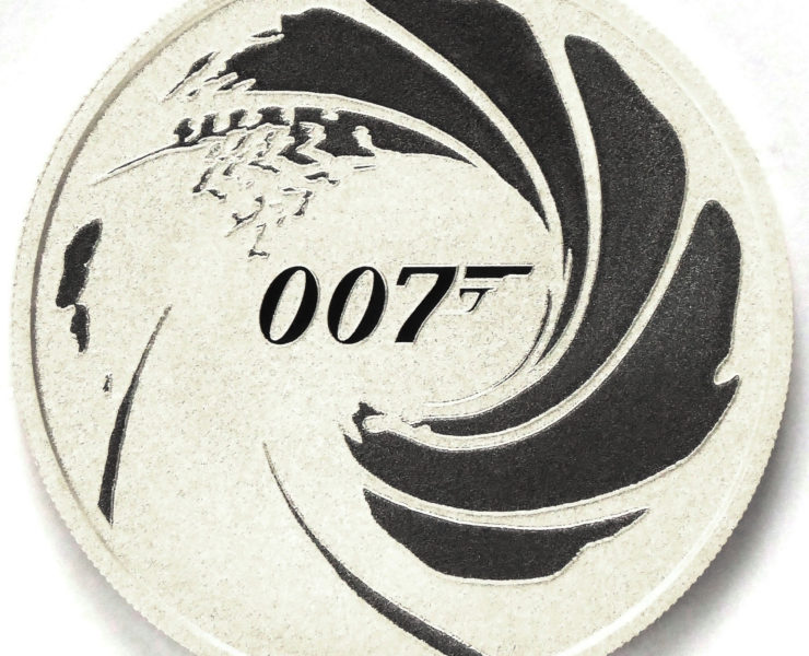 2020 James Bond 007 Tuvalu 1 oz Silver Bullion Coin