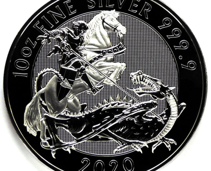 2020 Silver Valiant 10 oz Royal Mint Silver Bullion Coin