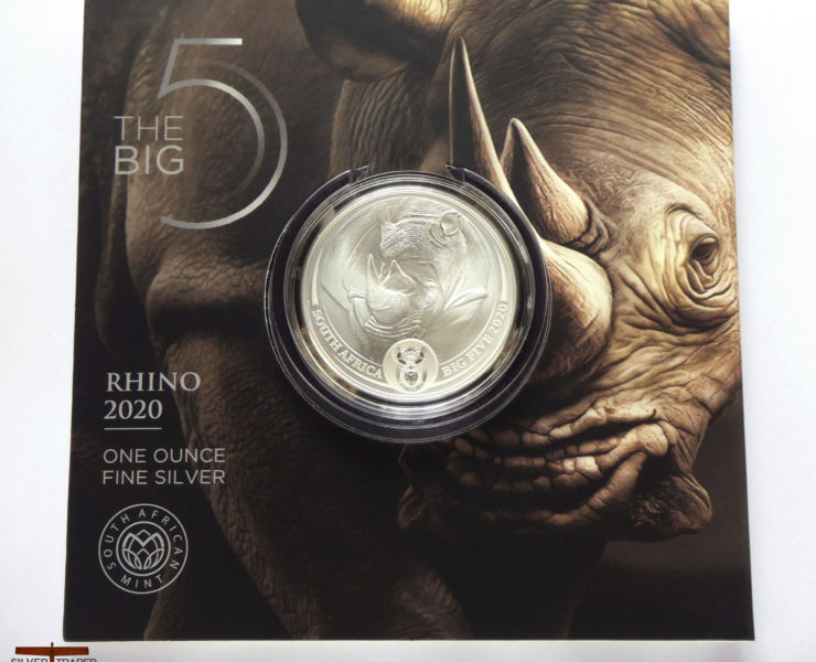 2020 South African Rhino Big 5 1oz Silver Bullion Coin