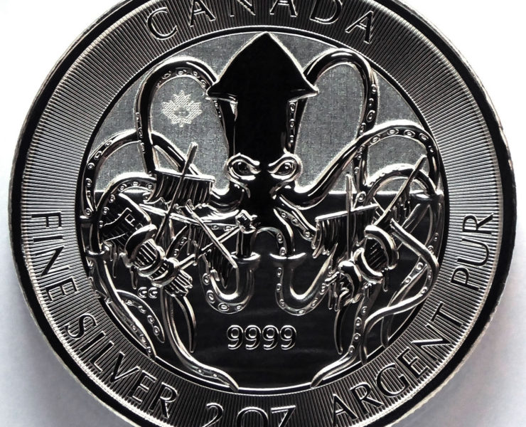 2020 Canadian The Kraken 2oz Silver Bullion Coin