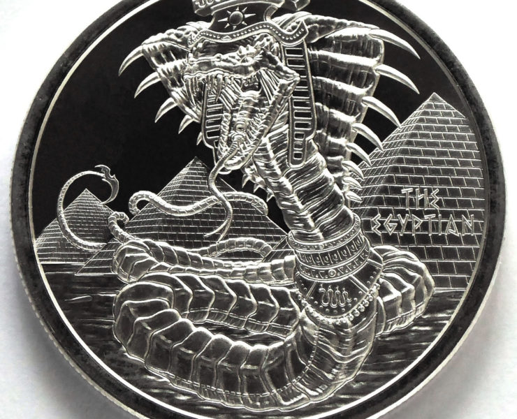 The Egyptian Dragon 1oz World of Dragons Silver Bullion Round