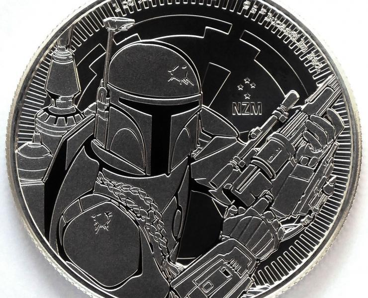 2020 Boba Fett Star Wars 1 oz Silver Bullion Coin