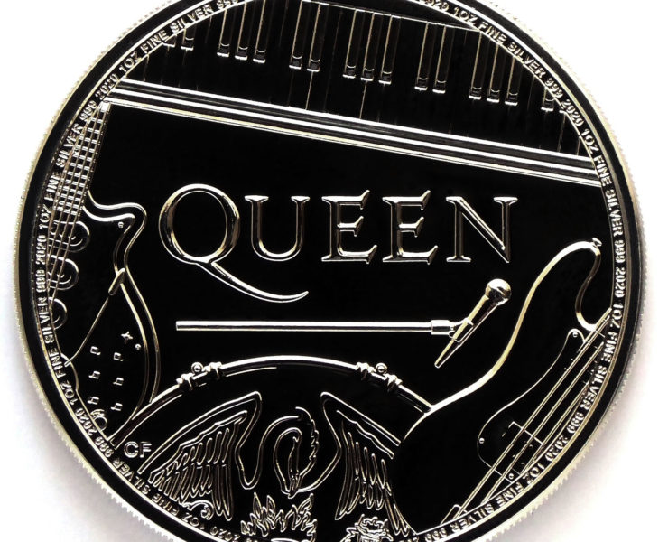 2020 Queen Music Legends 1 oz Silver Bullion Coin