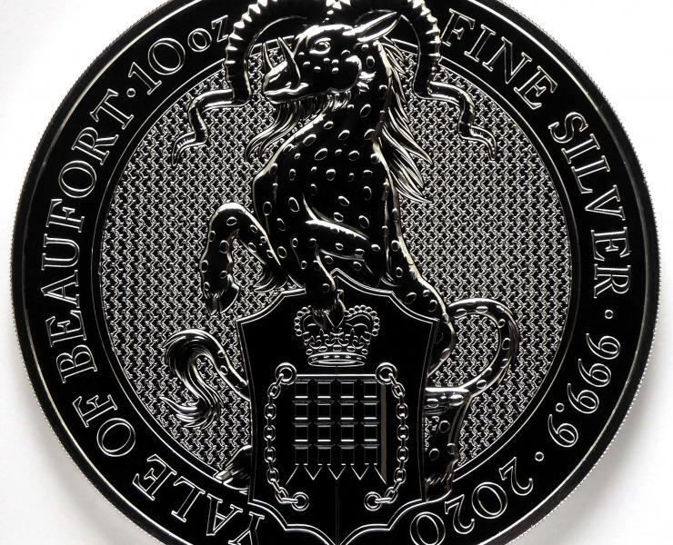 2020 Queens Beasts 10 oz The Yale Silver Bullion Coin