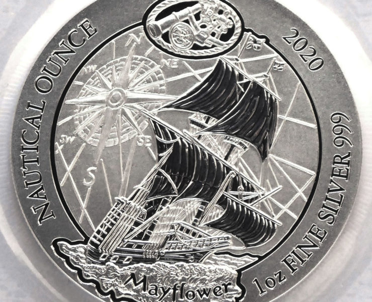 2020 Rwanda Nautical Series Mayflower 1oz Silver Bullion Coin