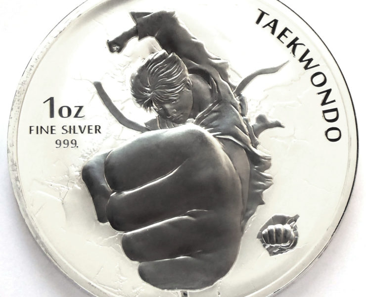 2020 Taekwondo South Korean 1oz Silver Bullion Medal