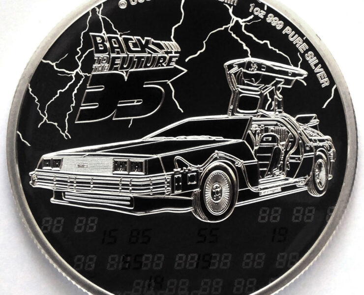 2020 Back to the Future 35th Anniversary 1oz Silver Bullion Coin